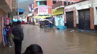 LLuvia torrencial en Tarma