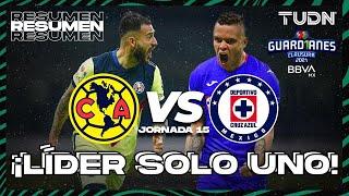 Resumen y goles   América vs Cruz Azul   Torneo Guard1anes 2021 BBVA MX J15   TUDN