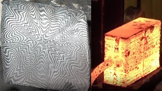 Forging Explosion pattern Damascus !!