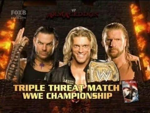 Triple H vs Jeff Hardy vs Edge Armageddon 2008 Highlights/Resumen