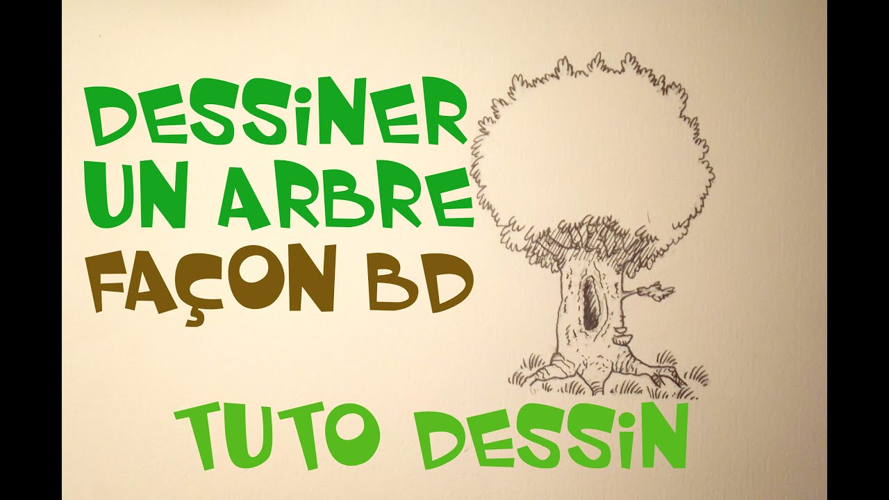 comment dessiner un arbre fa on bande dessin e tuto dessin youtube. Black Bedroom Furniture Sets. Home Design Ideas