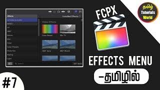 Effects Menu Fcpx Tamil Tutorials World_HD