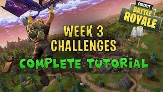 Fortnite - All Week 3 Challenges TUTORIAL - Follow the treasure map found in Snobby Shores