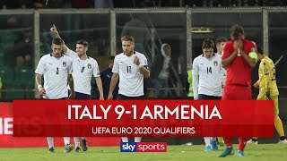 Italy smash 9 past Armenia! | Italy 9-1 Armenia | Euro 2020 Qualifier