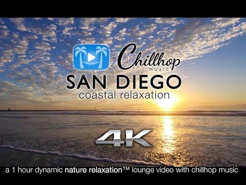 4K LOUNGE VID: San Diego Beaches ft CHILLHOP Jazzy/Hip Hop Instrumental Music