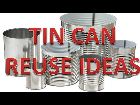 3 SUPER EASY TIN CAN DESIGNS| Tin Can Recycle Crafts. Home decore. 2