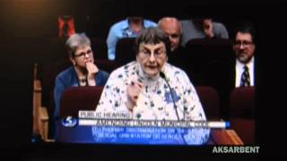 Lincoln, Nebraska LGBT hearing: the lady BEHIND hat lady has HER say too: she