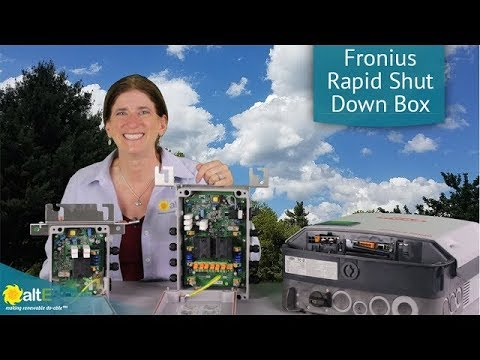 Fronius Rapid Shutdown Box for Solar Grid-Tie Inverters