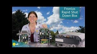 Fronius Rapid Shutdown Box for Solar Grid-Tie Inverters