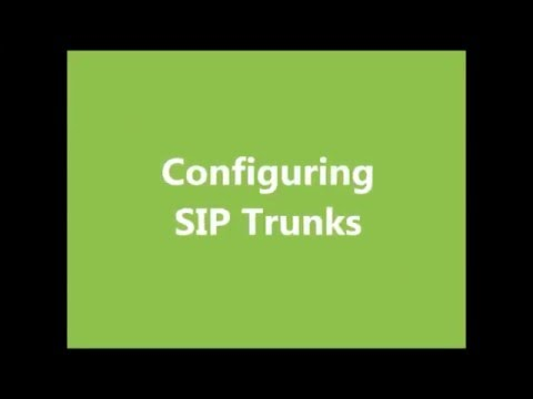 Configuring SIP Trunks