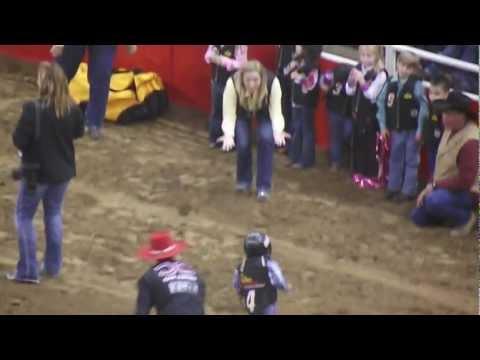 Mikey Mutton Bustin 2013 San Antonio Rodeo