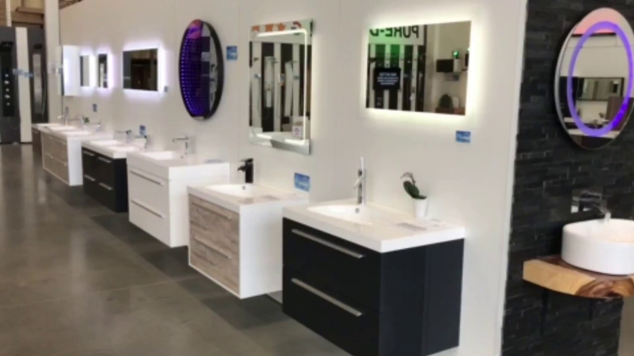Vanite de salle de bain chez Pure Design à Brossard - YouTube