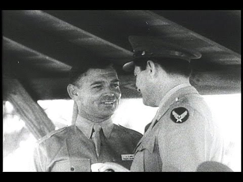 HD Historic Archival Stock Footage WWII - Clark Gable Wins Army Promotion! 1942