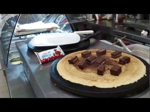 Crepe With Kinder Delice