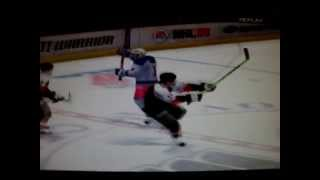 NHL 09 EA SPORTS PC STUCK PUCK - RANGERS VS. FLYERS - PROGRAMMING FLUKE ?