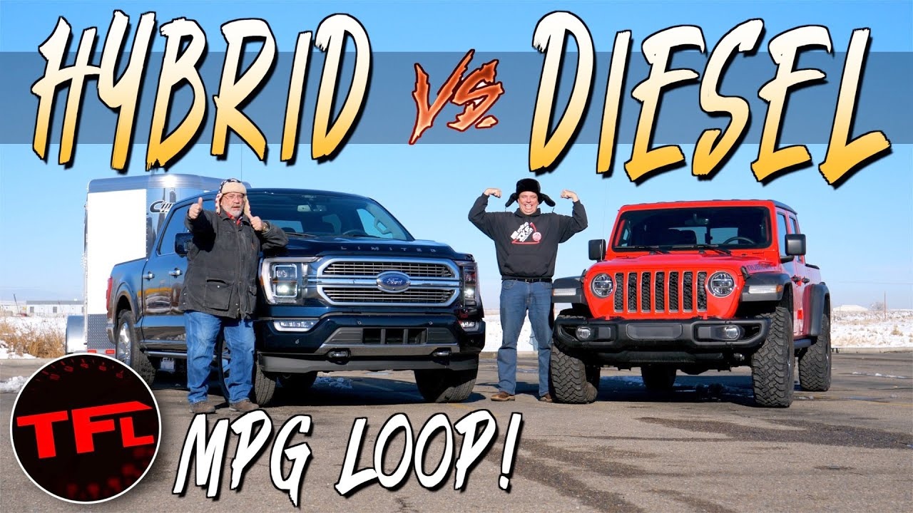 We Didn't Expect This: Will a Ford F-150 Hybrid Get Better Towing MPG Than a Jeep Gladiator Diesel?