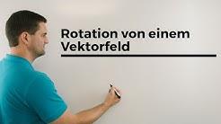 Rotation von einem Vektorfeld, Nabla Operator und Vektorfeld im Vektorprodukt | Daniel Jung