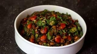 চিংড়ি মাছ দিয়ে ভেন্ডি বা ডেরস ভাজী /Chingri diye vendi/ Dherosh diye chingri mach