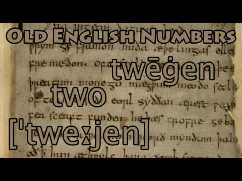 Old English Counting | Numbers 1-10 | Ænglisc - YouTube Old English Numbers 1 10