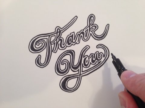 How to write thank you in fancy cursive youtube Thank you in calligraphy writing