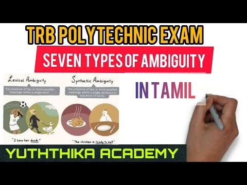 English Literature 55# Seven Types Of Ambiguity By Sir William Empson In Tamil