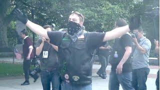 "Patriotic Biker Gang Stops Flag Burning and Chases Away Protestors - NYC ""Hallowed Sons"""