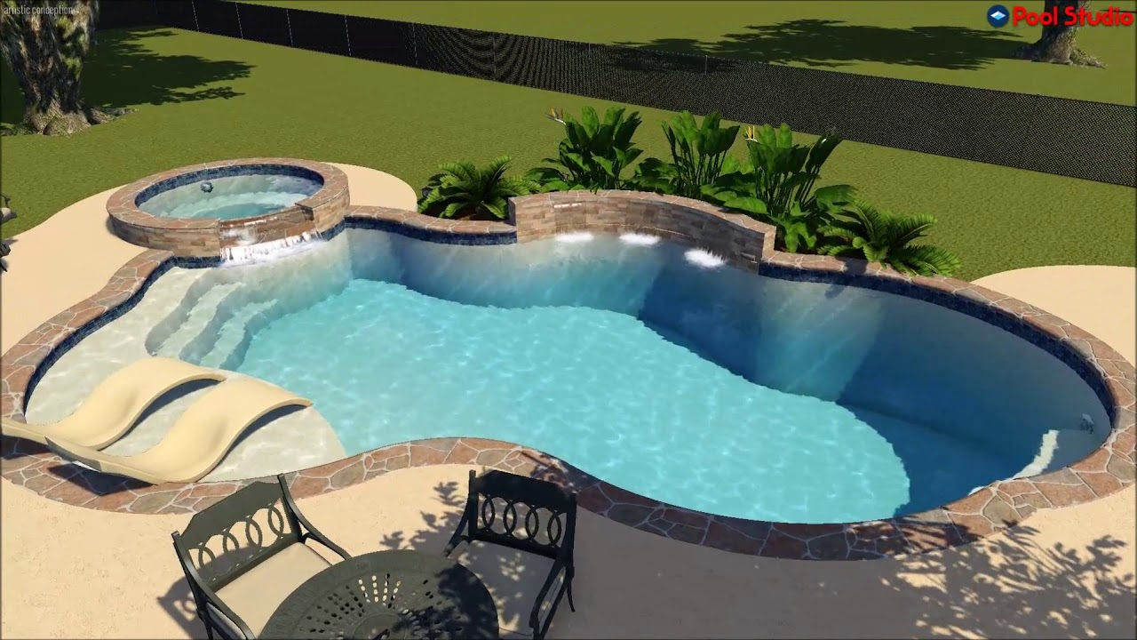 Jacuzzi Pool Youtube Platinum Pools Boswell Pool Video Designed By Clay Givens Youtube