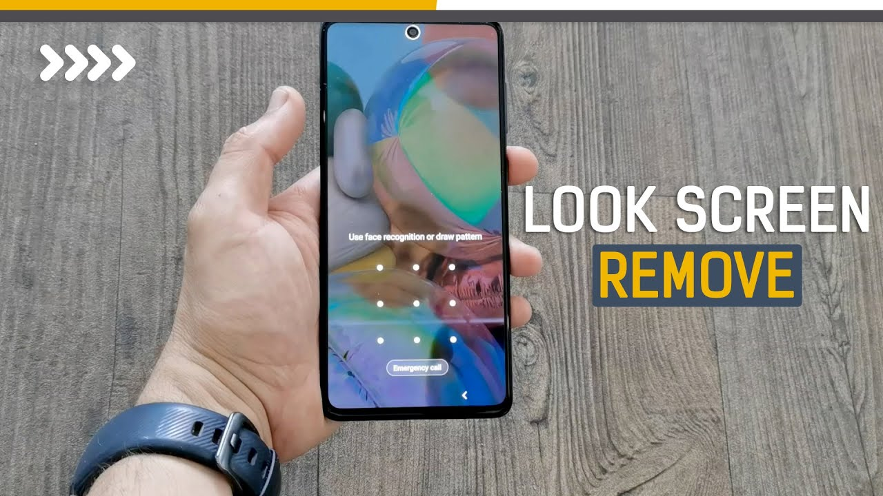 Samsung A71 A51 A31 hard reset Pattern unlock / screen lock remove with bouton