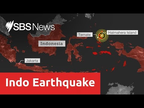 Mass panic and one dead after 7.3 magnitude earthquake shakes Indonesia