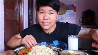 Jeera rice paneer gravy   rajma curry    Nepali mukbang 2020