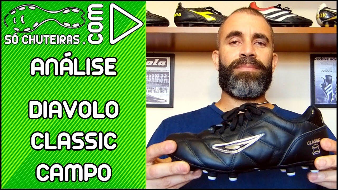 Chuteira Diavolo Classic Campo - Análise - Blog Só Chuteiras - YouTube 4353bb892ff62