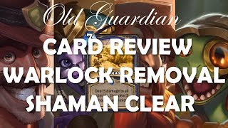 Saviors of Uldum card review: Warlock hard removal and Shaman board clear (Hearthstone)
