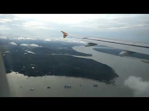 Singapore Landing, Changi Airport. High Definition Clear view