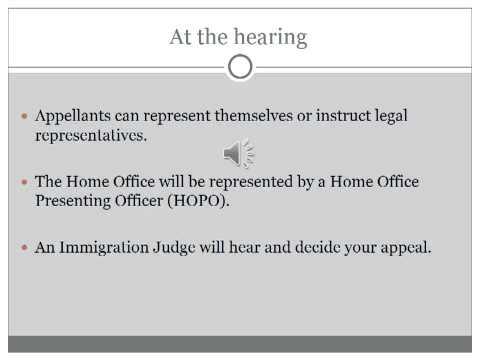 Immigration Tribunals Appeal Process