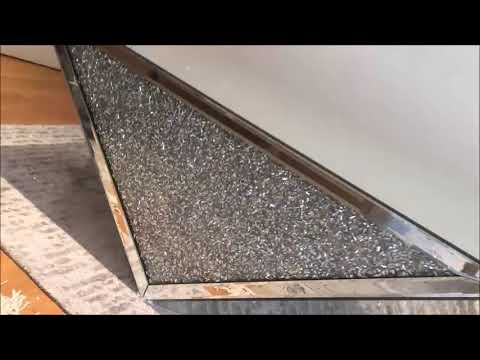 Mirroredfurniture.com Mirrored Crushed Diamond Coffee Table
