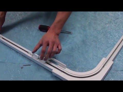 Motorized 90 degree angle Curtain Rod