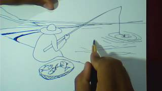 learn how to draw fishing