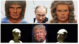 Трампа поддерживают рептилоиды - Путина нордическая раса.