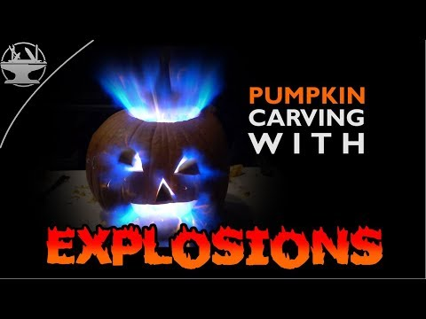 Pumpkin Carving with EXPLOSIONS