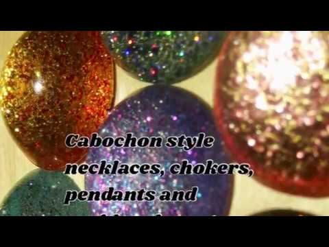 Cabochon style necklaces and chokers!