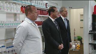 U.S. Health Secretary Visits Pittsburgh, Praises Efforts To Bring Down Prescription Drug Prices