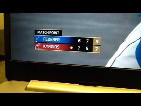 Roger Federer vs Nick Kyrgios- laver cup final point