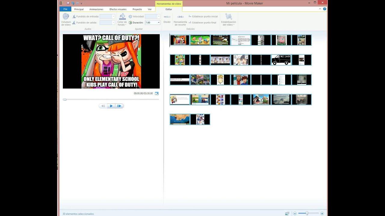 Window Movie Maker cambiar la duración de lo fotograma - YouTube