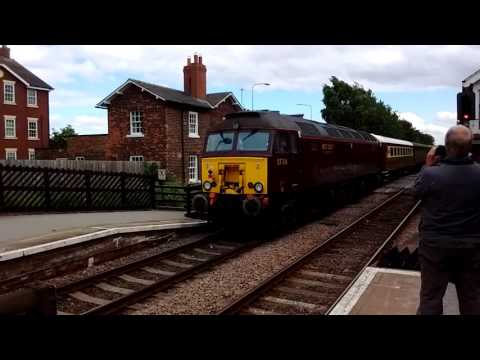 Two class 57's pass through Beverley station, June, 24th, 2017.