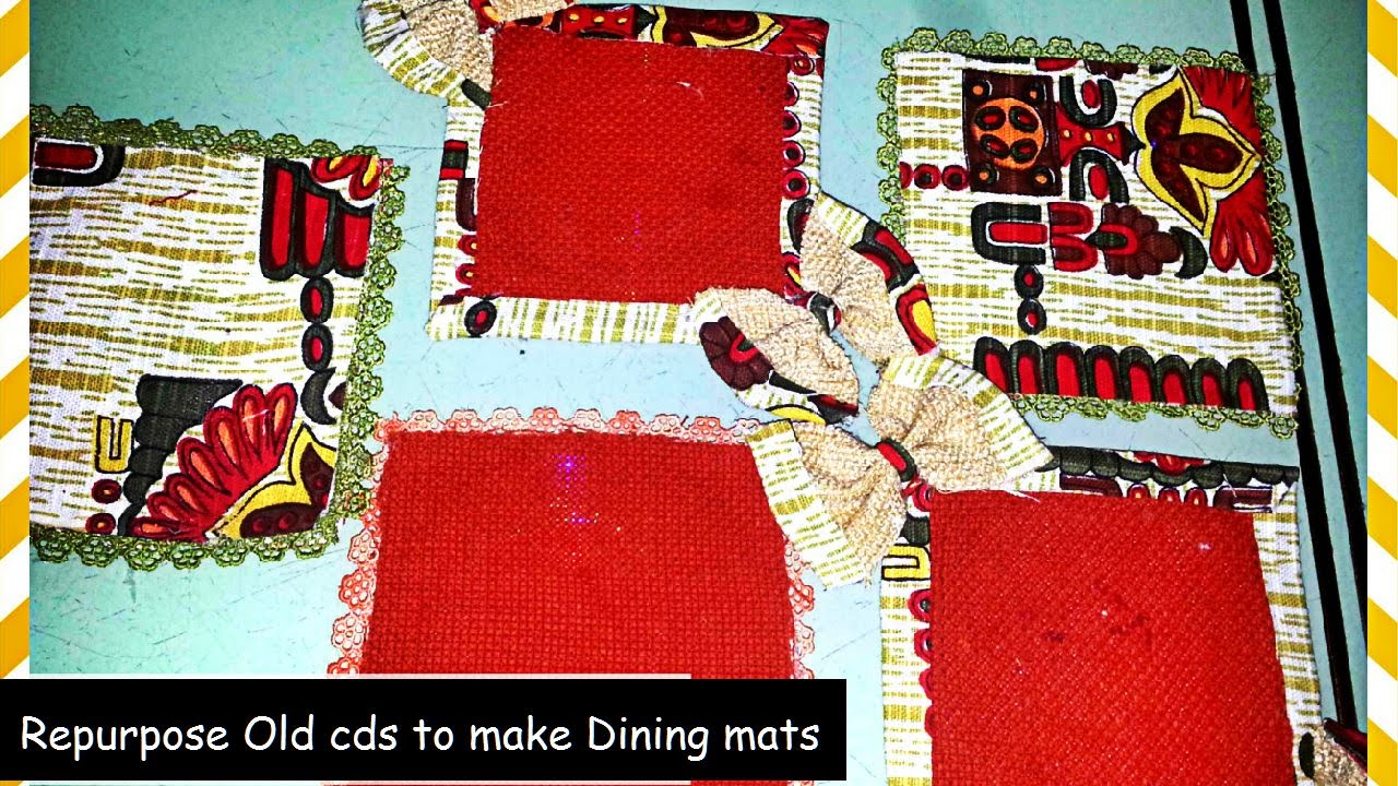 How to make dining table mats at home - Make Dining Mats Reusing Cd