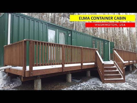 Elma Container Cabin: Shipping Container Airbnb- Washington