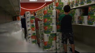 THE BIGGEST ULTIMATE CASTLE TOILET PAPER FORT YET !!! TARGET & WALMART