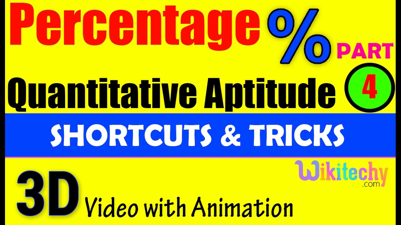 percentage 4 aptitude test preparation tricks online videos percentage 4 aptitude test preparation tricks online videos lectures exams tips