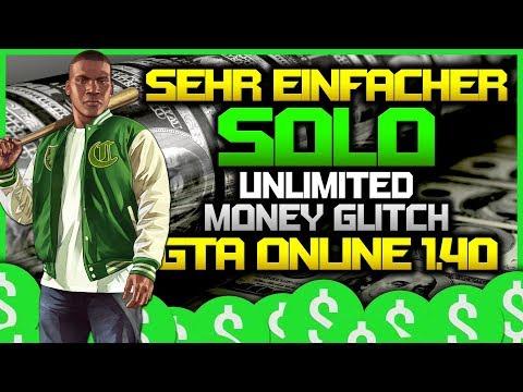 EXTREM EINFACHER SOLO UNLIMITED MONEY GLITCH in GTA 5 ONLINE 1.40 [GERMAN/DEUTSCH - PS4/XBOX ONE]