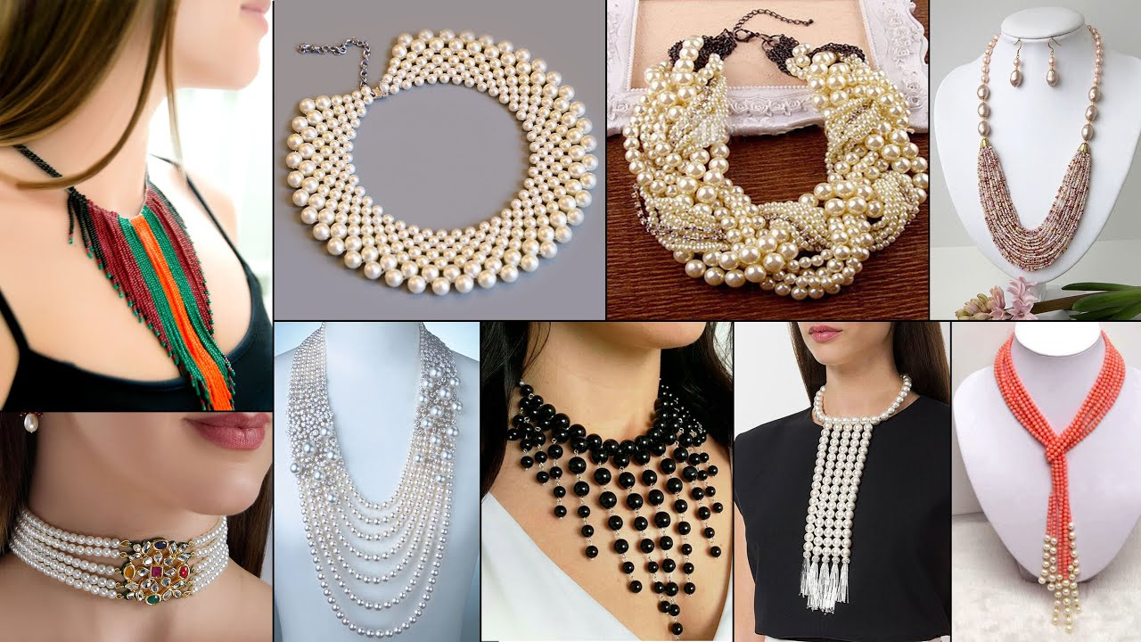 10 Handmade Necklace Ideas!!! DIY beautiful Pearl Jewelry